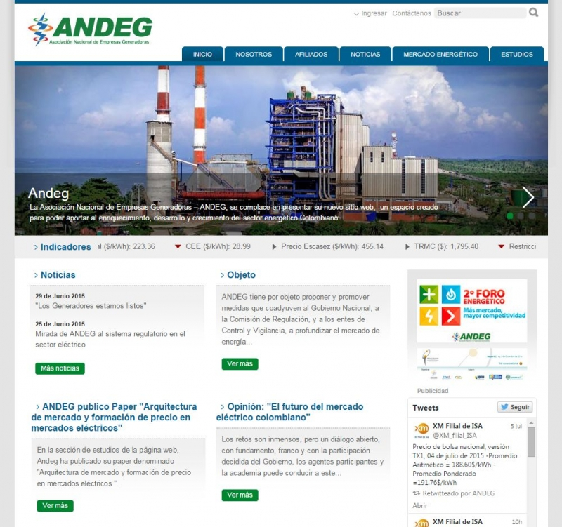 ANDEG Website - by Zola