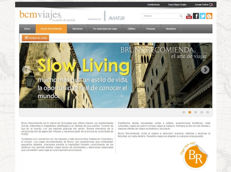 BCM Viajes Website - By Zola