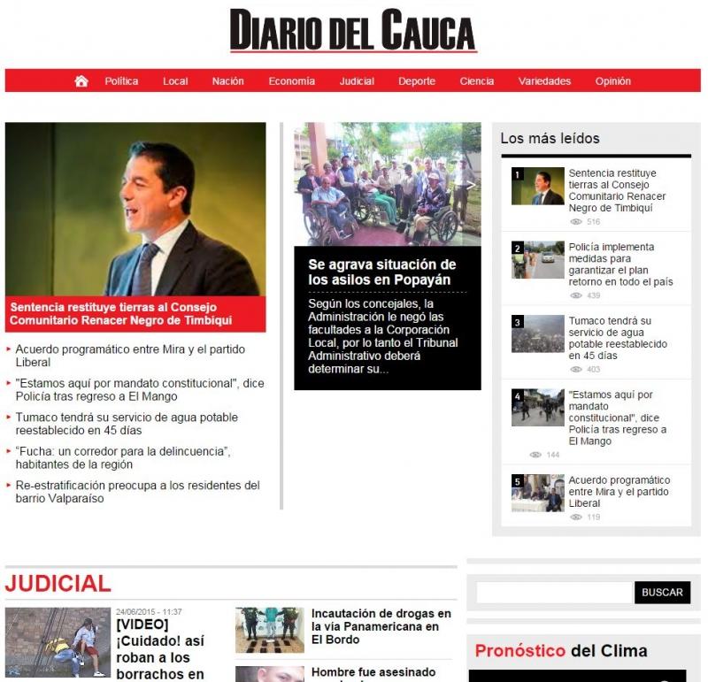 """""""Diario del Cauca"""" News"""