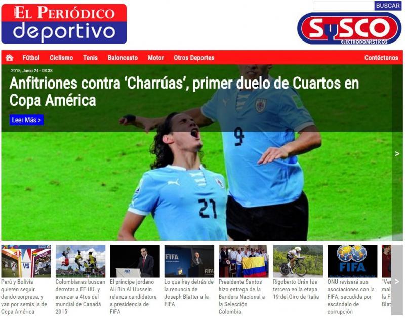 """[""""El Periódico Deportivo"""""""